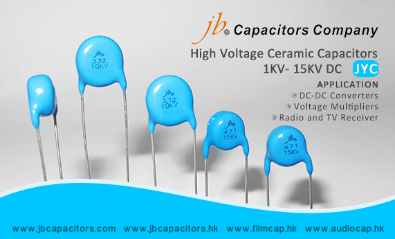jb-For High Voltage application, JYC – High Voltage Ceramic Radial Type Disc Capacitors