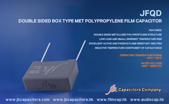 jb Capacitors Company Double Sided Box Type Met Polypropylene Film Capacitor (MKP), JFQD series