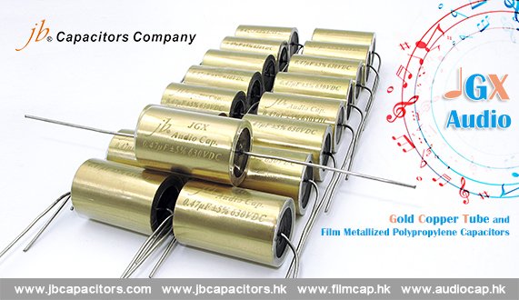 jb The High Class Audio capacitors- JGX - Gold Copper Tube and Film Metallized Polypropylene Capacitors – Axial