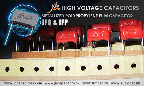 jb High Voltage Metallized Polypropylene Film Capacitor, JFP and JFQ