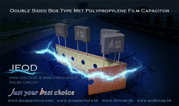 jb Double Sided Box Type Met Polypropylene Film Capacitor reach to 2000VDC