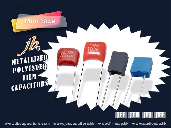 jb Capacitors Company Mini Size MKT capacitors-JFF,JFH,JFJ,JFE
