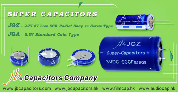 jb High Power Super Capacitors JGZ series - Radial, Snap-in, Screw Type
